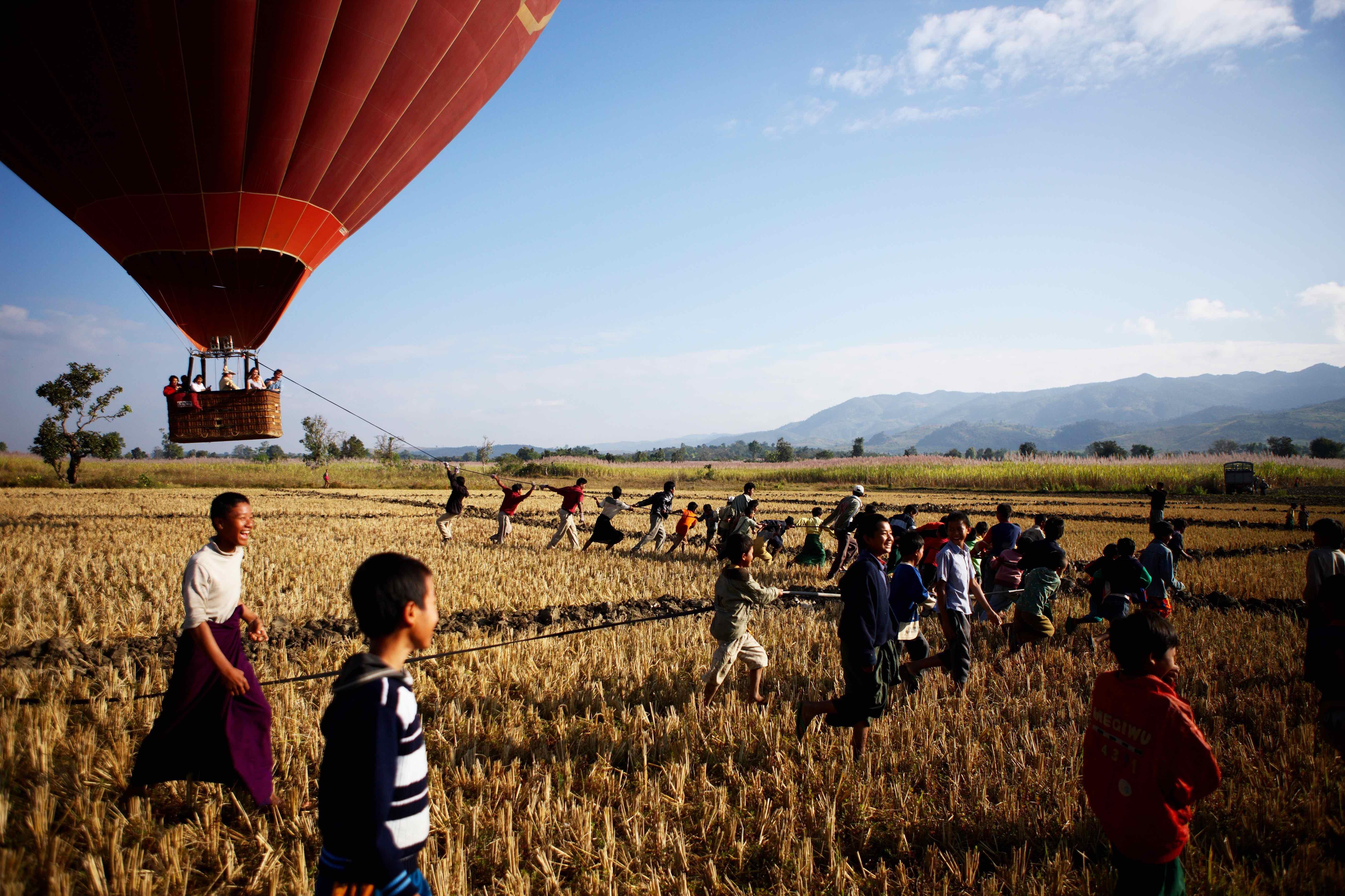 Ballooning in Pindaya
